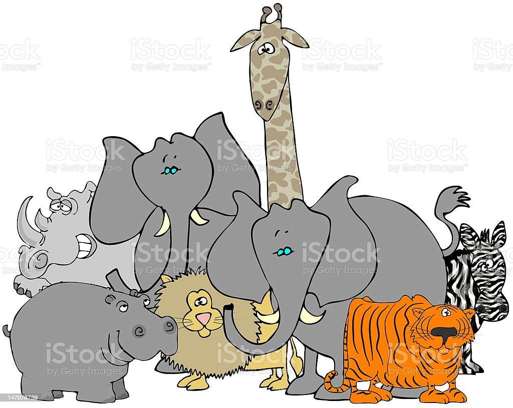 African Animals royalty-free stock vector art