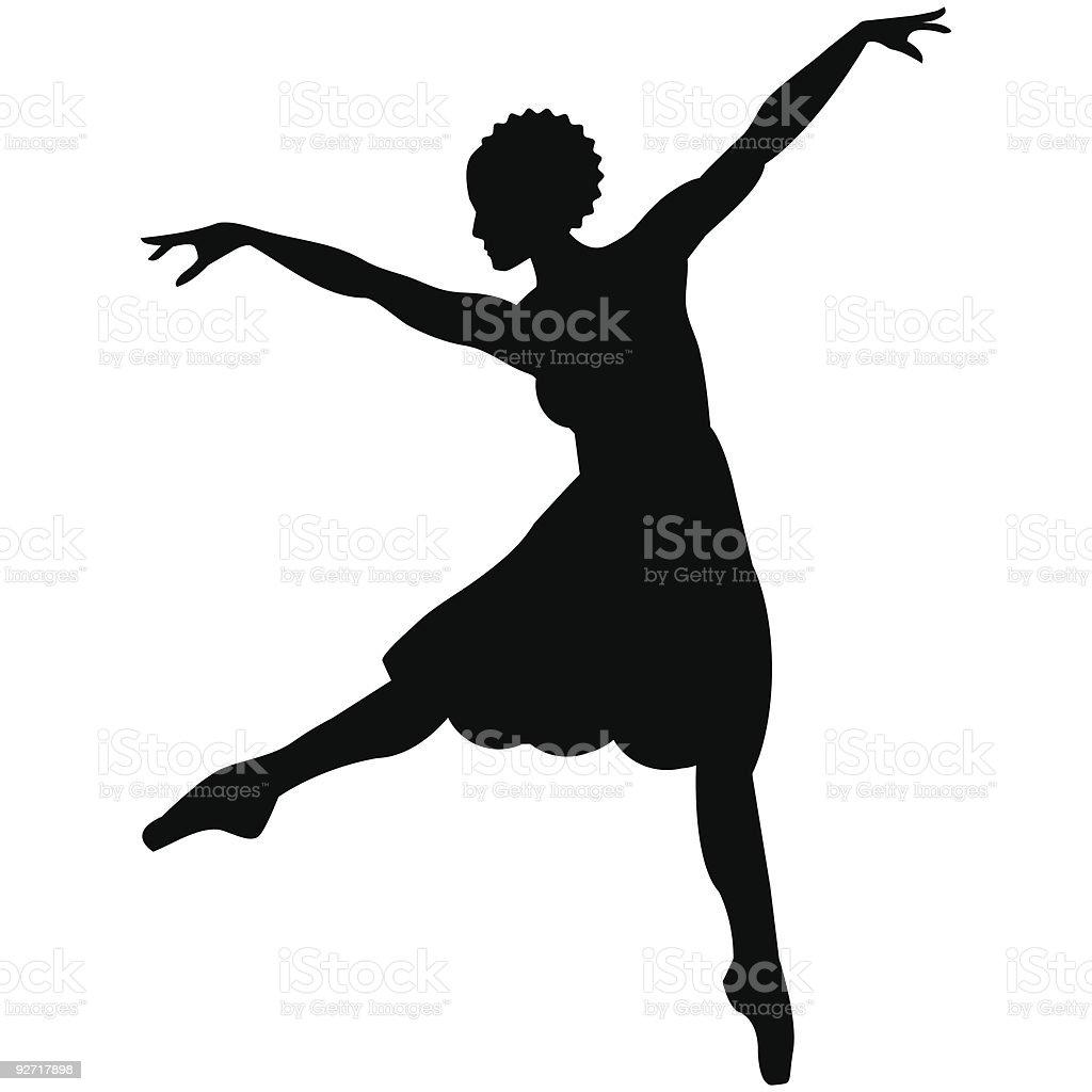 African Dancer royalty-free stock vector art