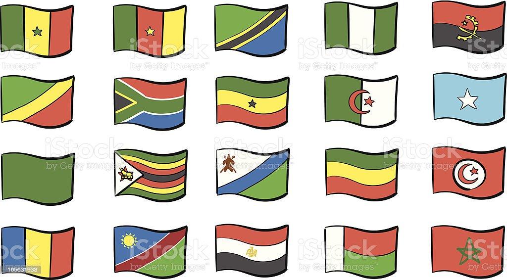 African Flags vector art illustration