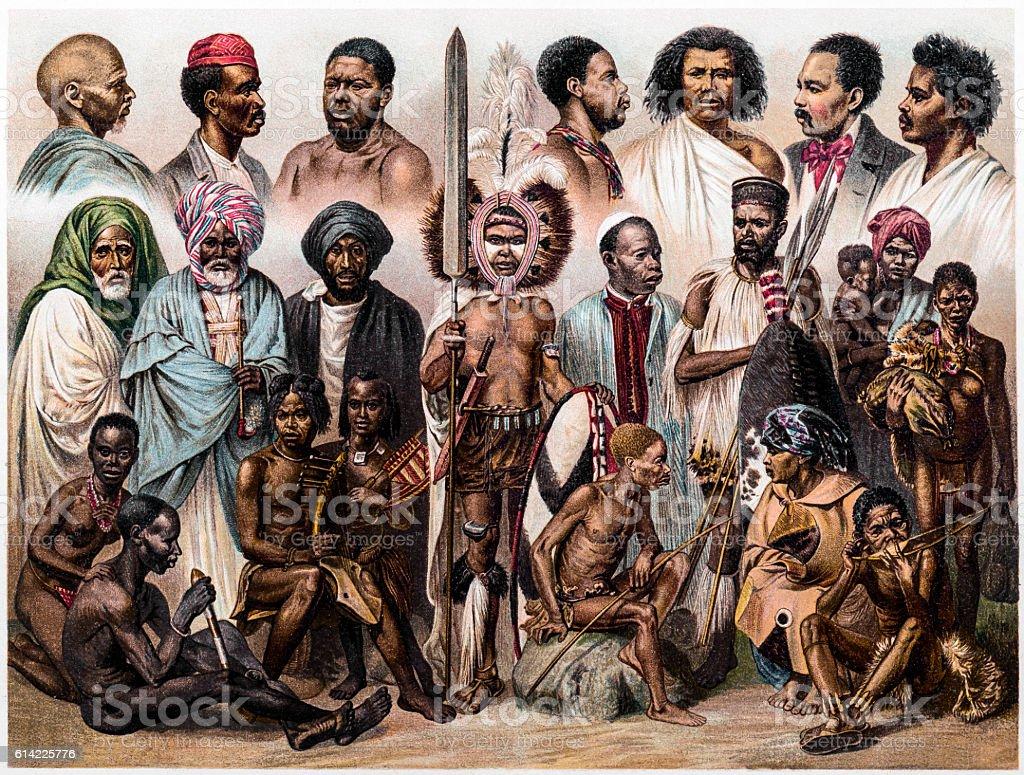 African people vector art illustration