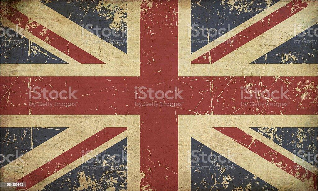 UK Aged Flat Flag vector art illustration