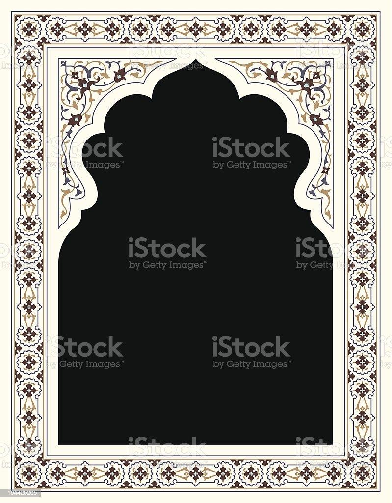 Agra Floral Frame vector art illustration