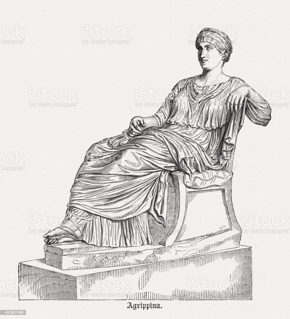 Agrippina the Elder (14 BC - 33), published in 1878 vector art illustration