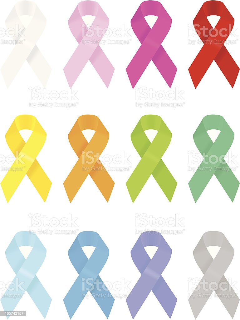 Aids Ribbons vector art illustration