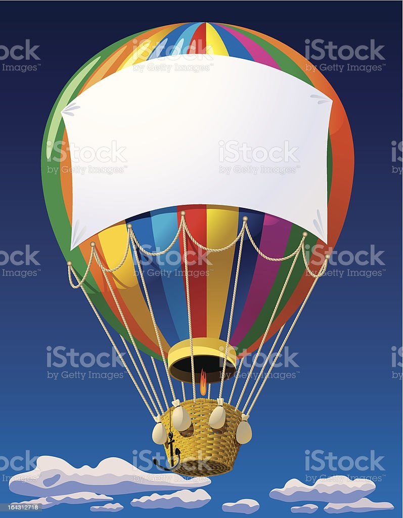 Air balloon in the sky royalty-free stock vector art