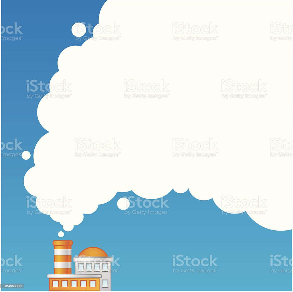 Air pollution royalty-free stock vector art