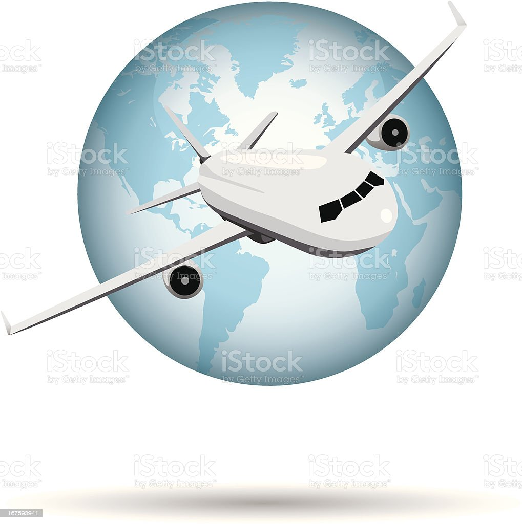 air travel vector art illustration