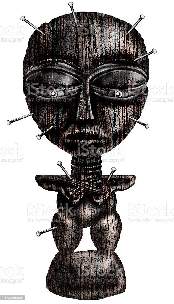 airbrush art - a Voodoo Statue royalty-free stock vector art