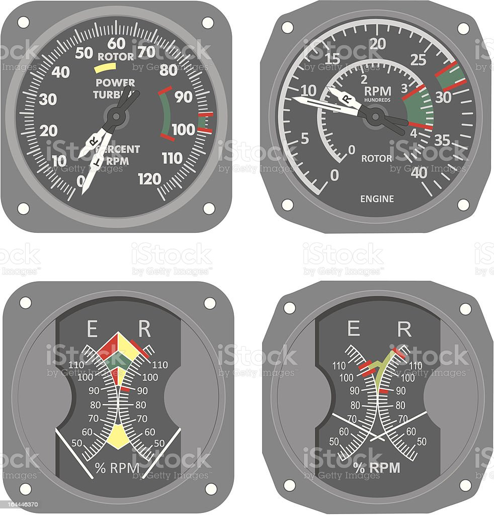 Aircraft gauges (#7) vector art illustration