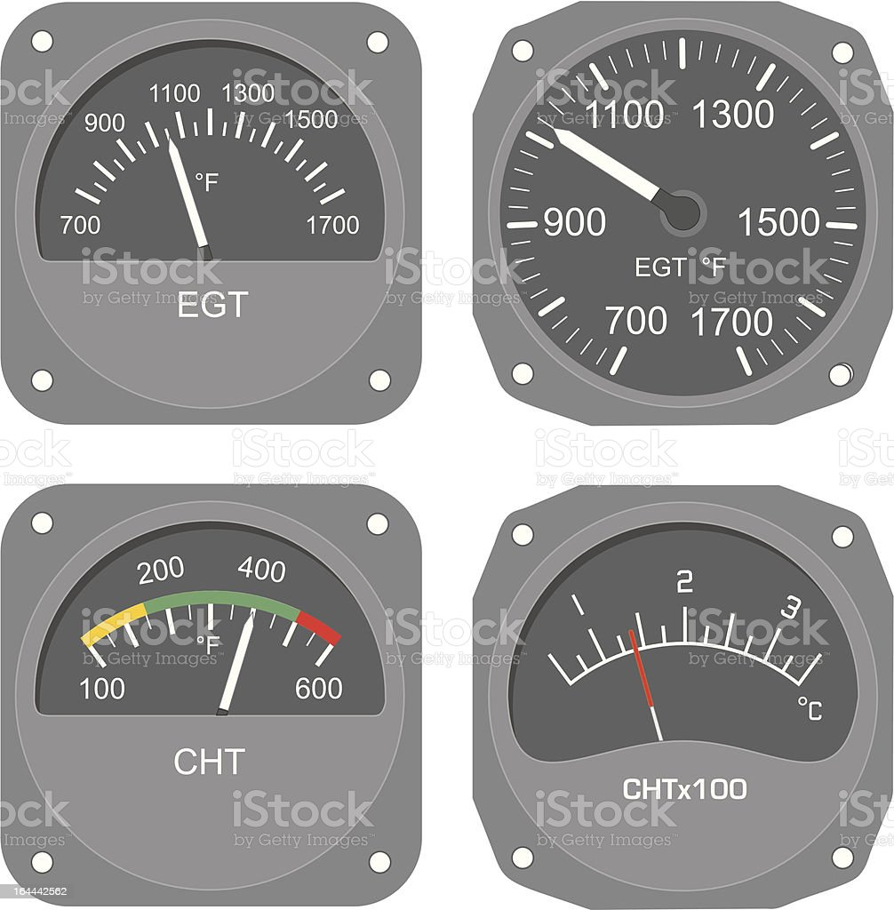 Aircraft instruments (set #7) royalty-free stock vector art