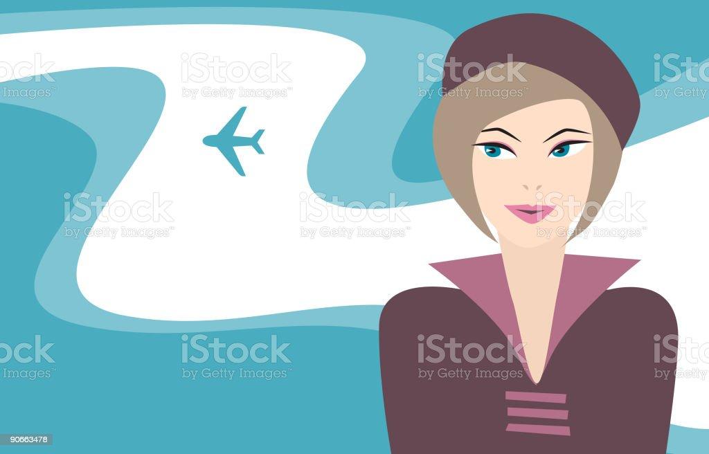 Airline girl royalty-free stock vector art