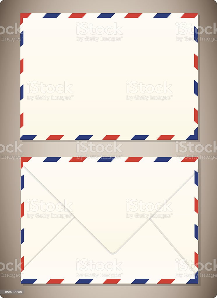 Airmail Envelope Front & Back royalty-free stock vector art
