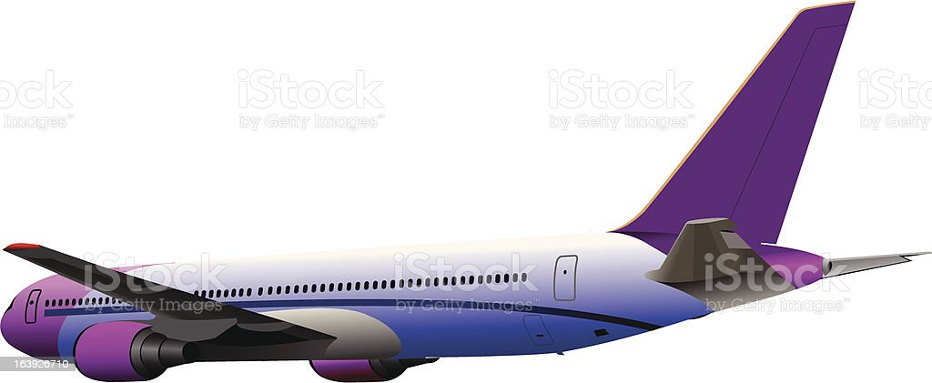Airplane on the air. Vector illustration royalty-free stock vector art