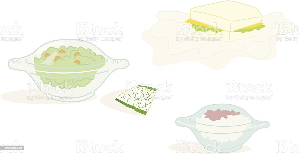 airplanefoodpakets royalty-free stock vector art
