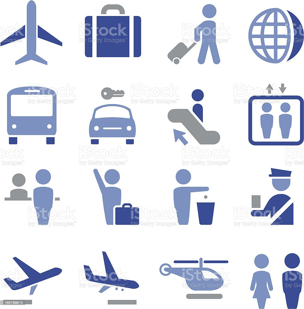 Airport Icons - Pro Series royalty-free stock vector art