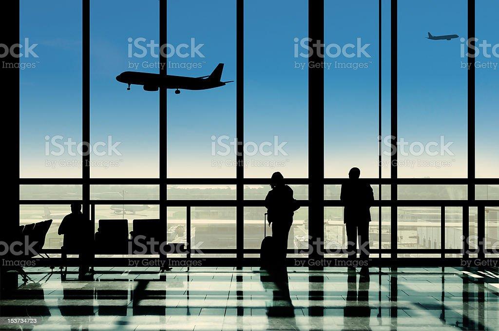 Airport lounge Jet Set vector art illustration