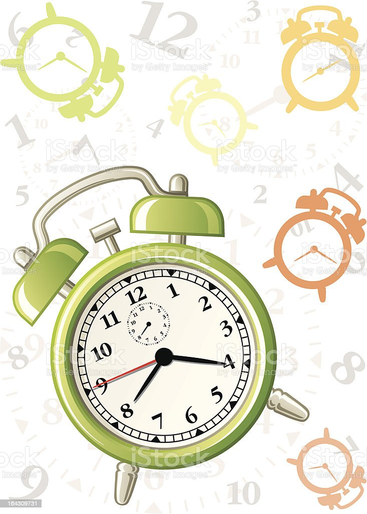 Alarm background royalty-free stock vector art