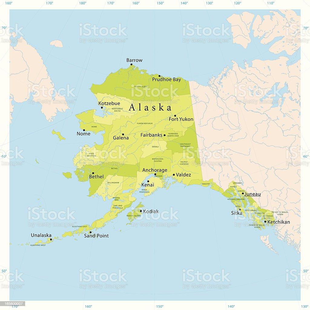 Alaska Vector Map vector art illustration