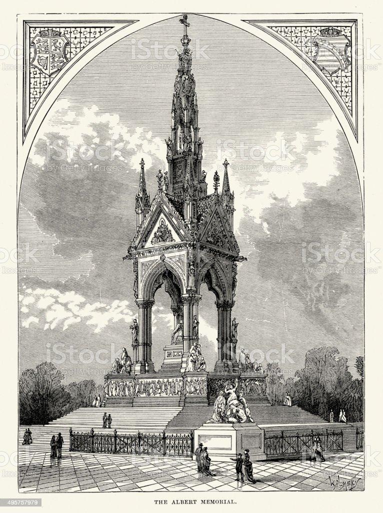 Albert Memorial royalty-free stock vector art