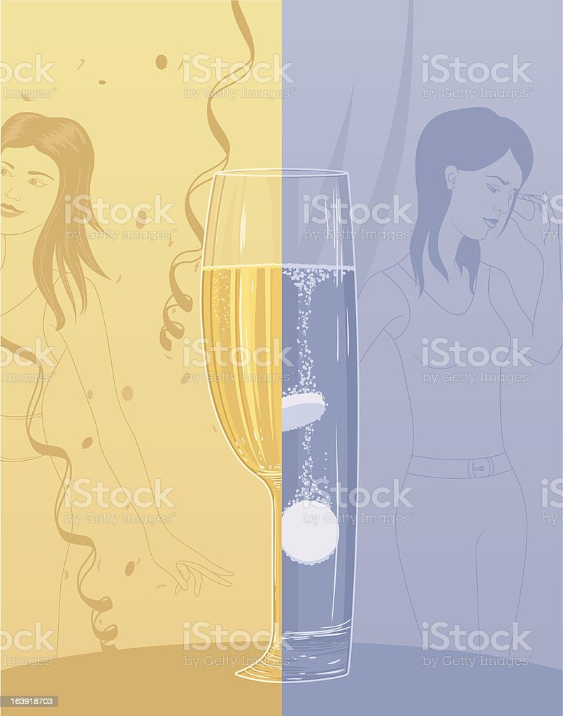 Alcohol consequences royalty-free stock vector art