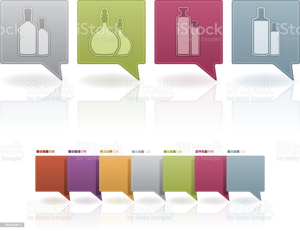 Alcohol glasses royalty-free stock vector art