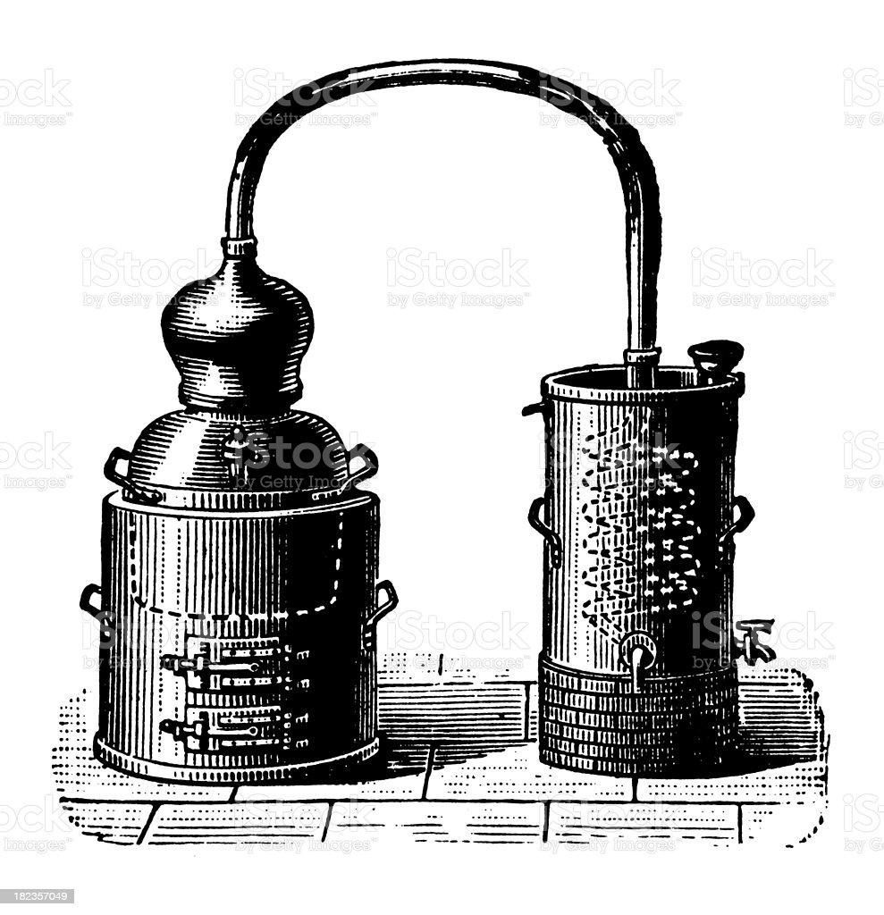 Alembic | Antique Design Illustrations vector art illustration