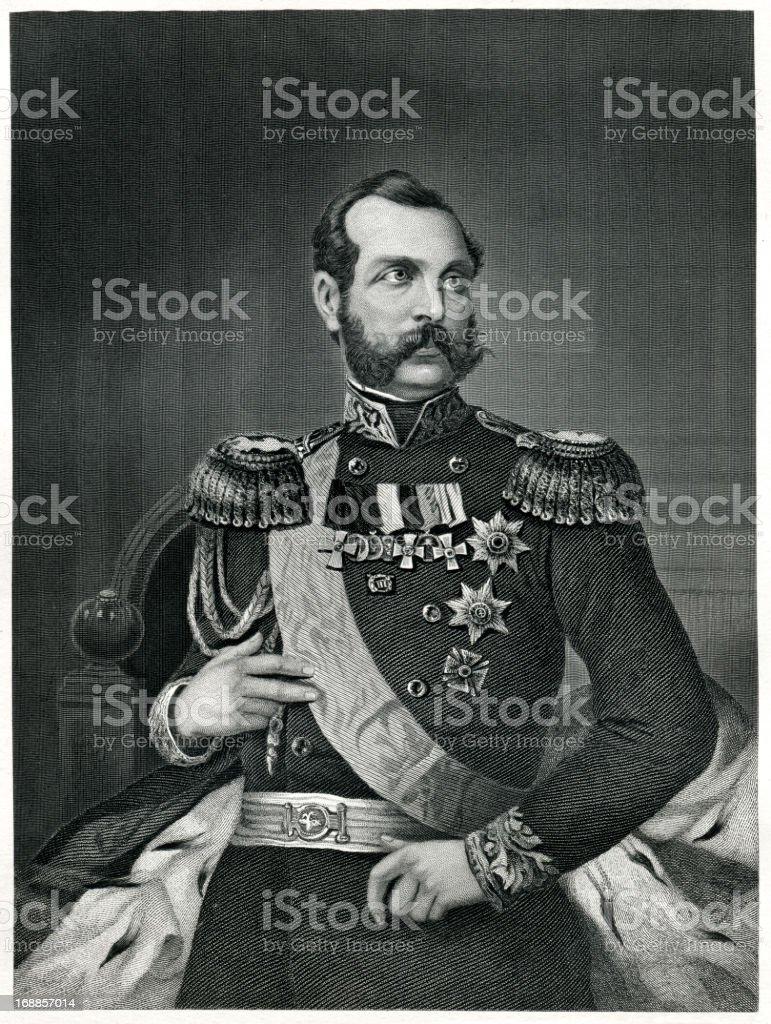 Alexander II Of Russia royalty-free stock vector art