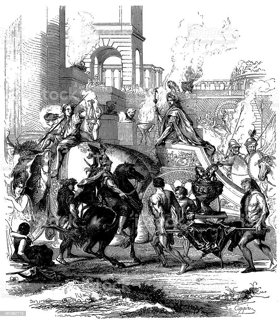 Alexander's Triumph by Lebrun royalty-free stock vector art