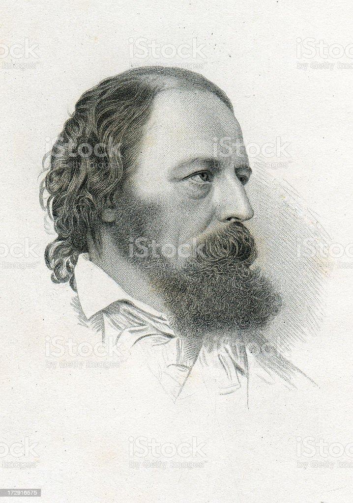 Alfred Tennyson vector art illustration