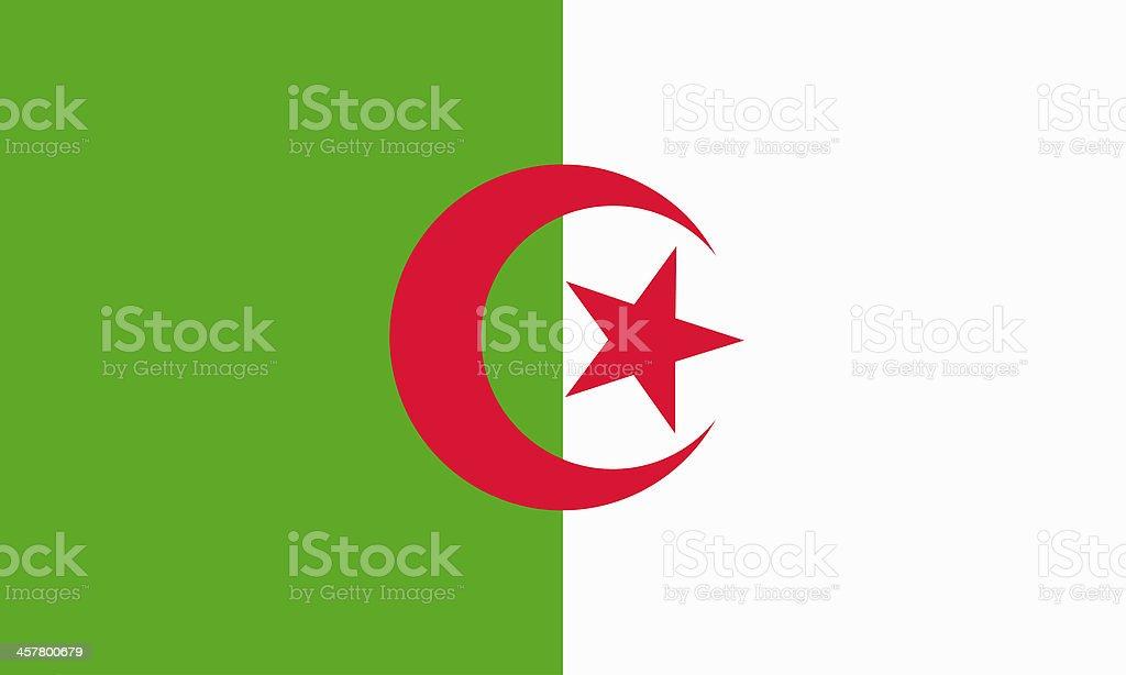 algerian flag vector art illustration