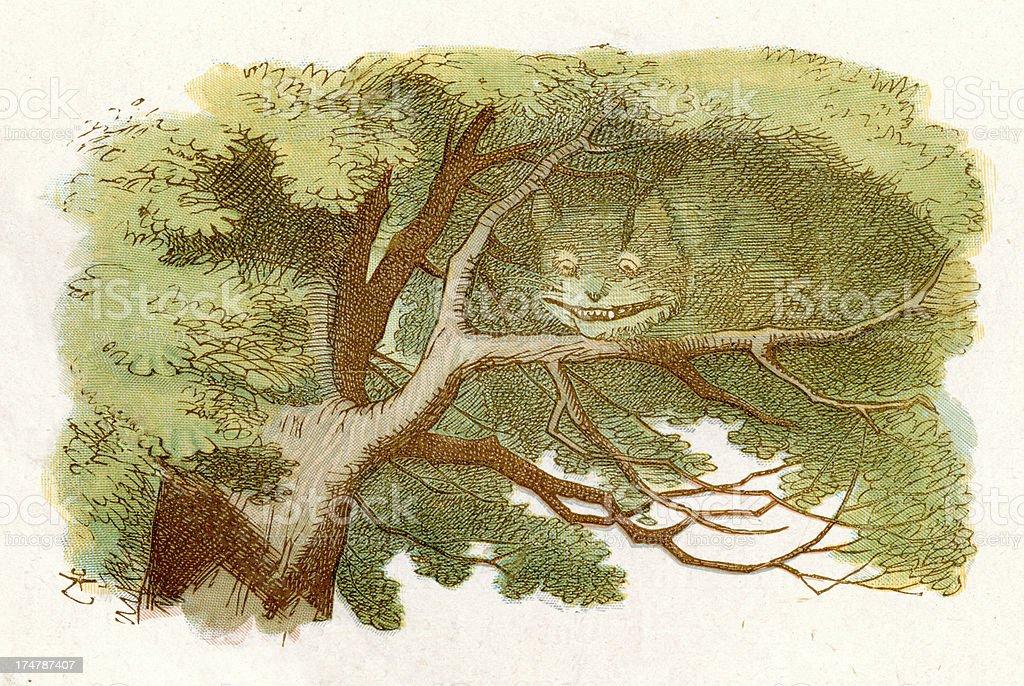 Alice in Wonderland - Cheshire Cat royalty-free stock vector art