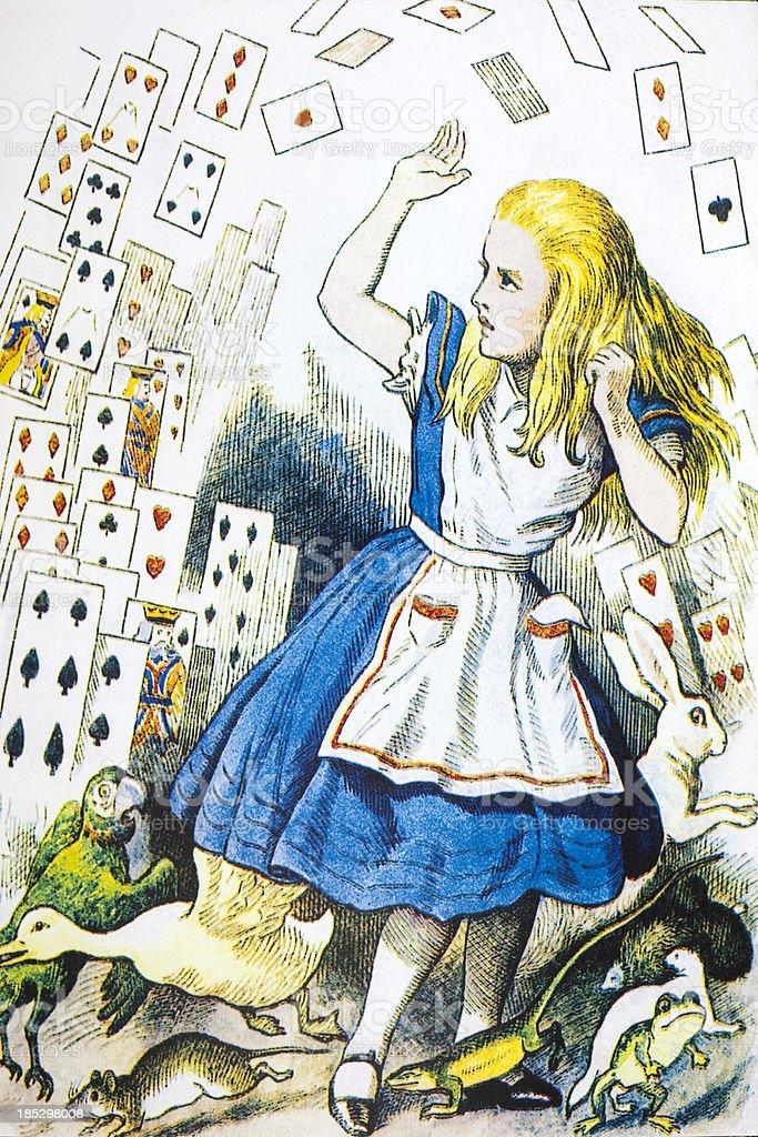 Alice's Adventures in Wonderland vector art illustration