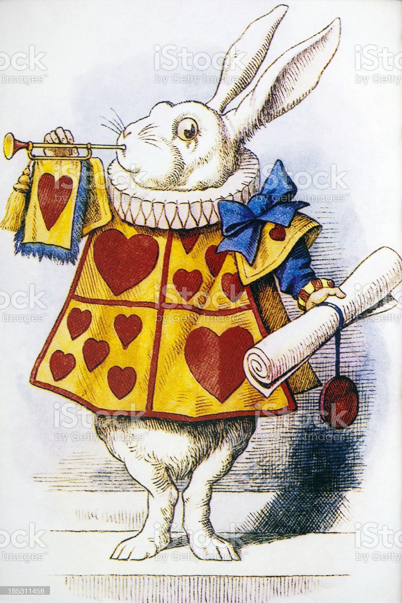 Alice's Adventures in Wonderland royalty-free stock vector art