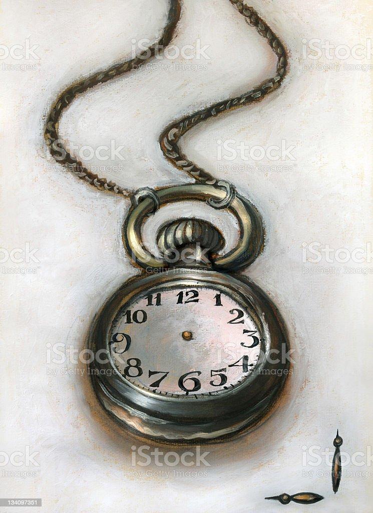 Alice's pocket watch royalty-free stock vector art