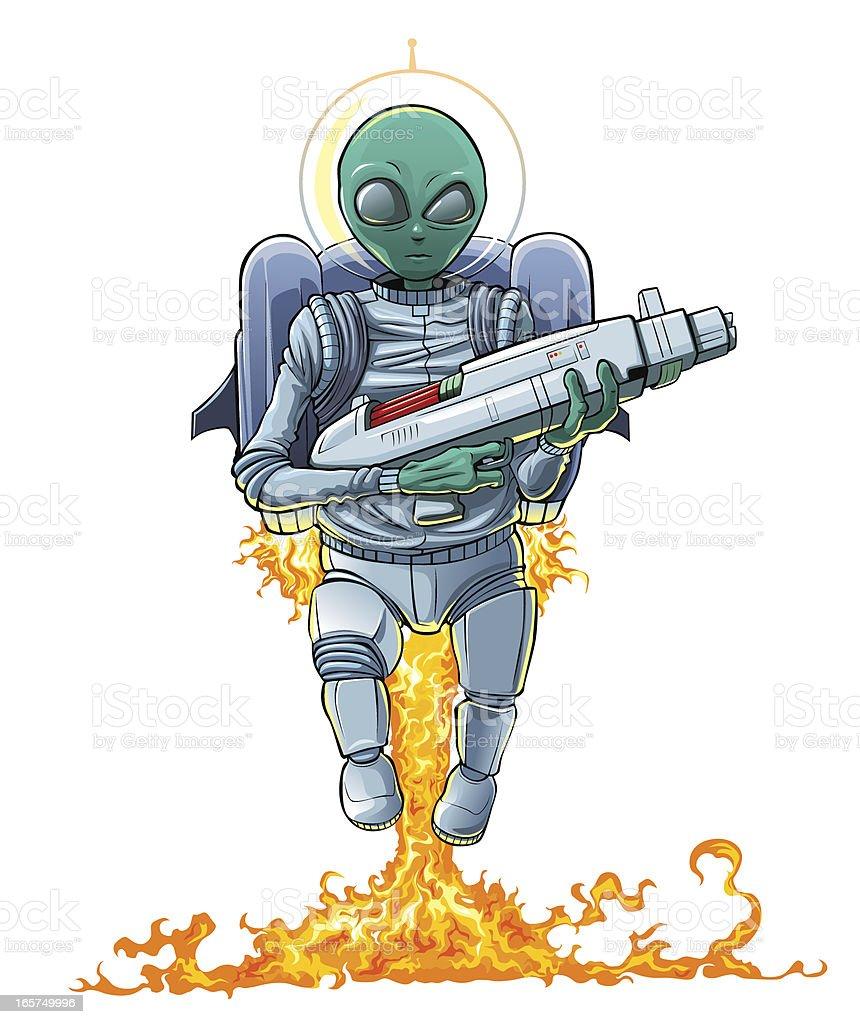 Alien invader. vector art illustration