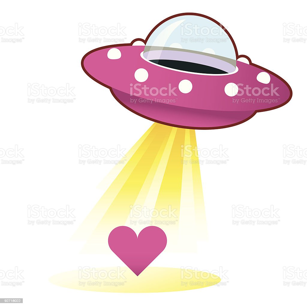 Alien love royalty-free stock vector art