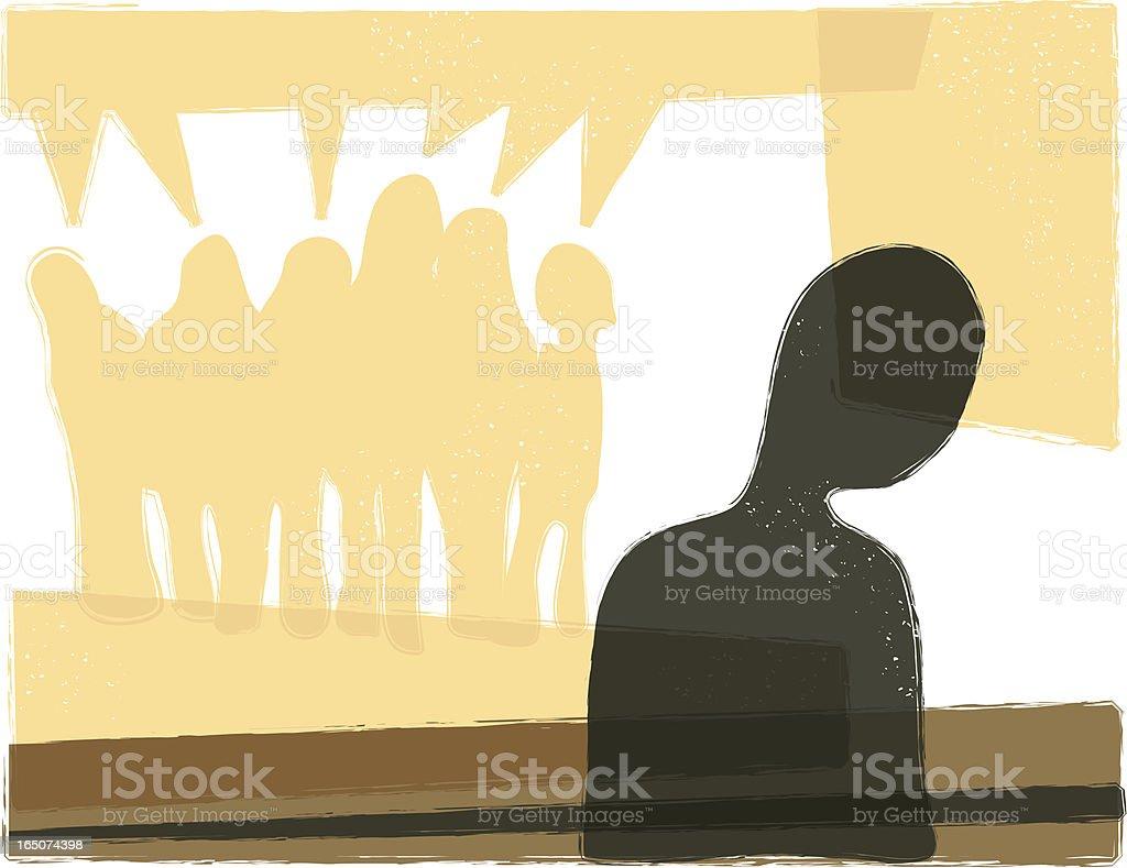 Alienation vector art illustration