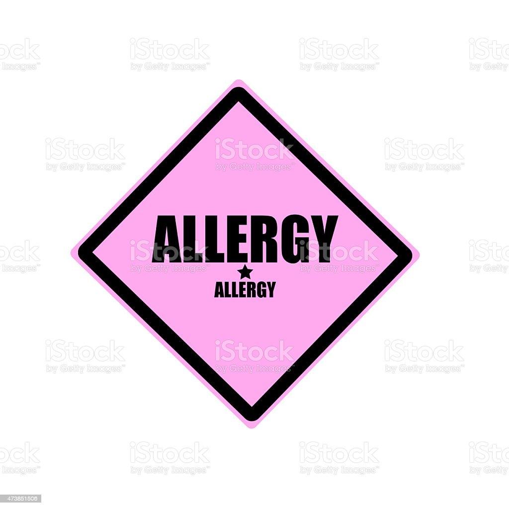 Allergy black stamp text on pink background vector art illustration