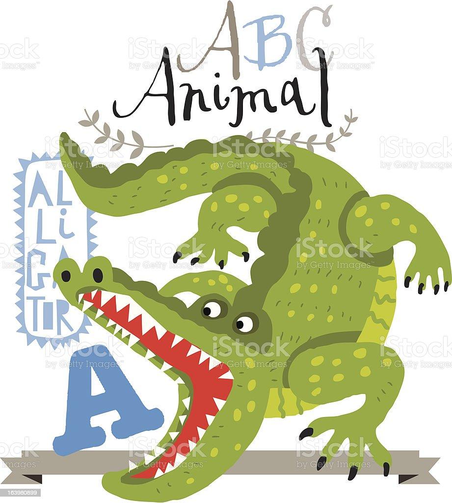 ABC alligator royalty-free stock vector art
