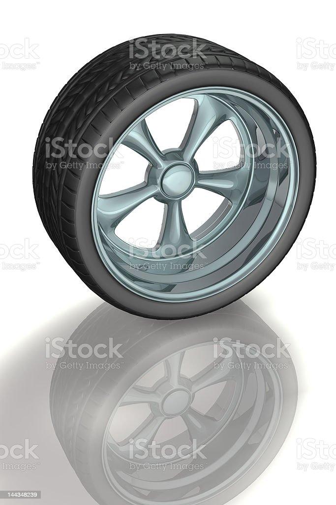 Alloy wheel vector art illustration