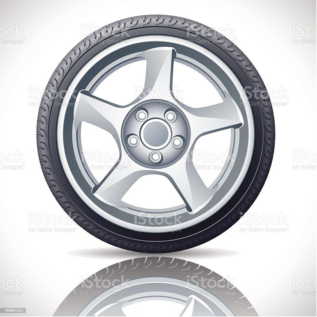 alloy wheel royalty-free stock vector art