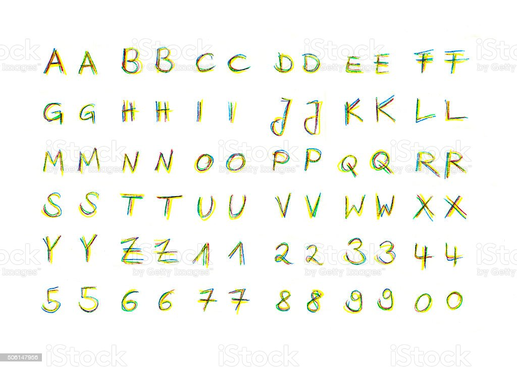 Alphabet handwriting vector art illustration