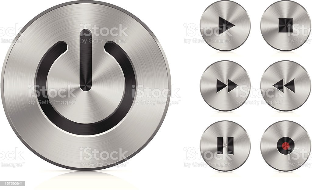 Aluminium buttons royalty-free stock vector art