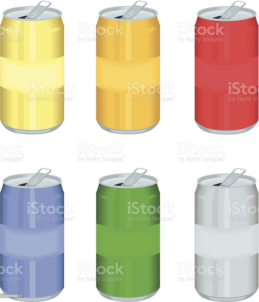 Aluminum Cans royalty-free stock vector art
