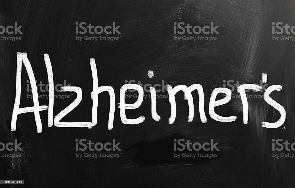 alzheimer's disease vector art illustration