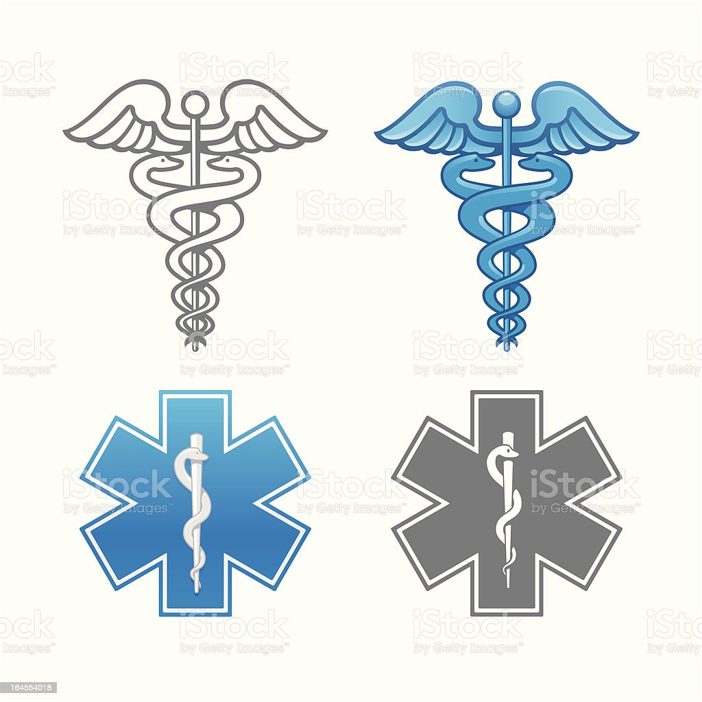 Ambulance and Medical symbol vector art illustration