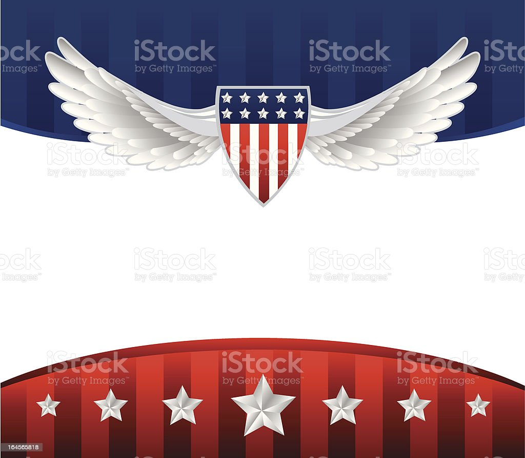 American Background royalty-free stock vector art