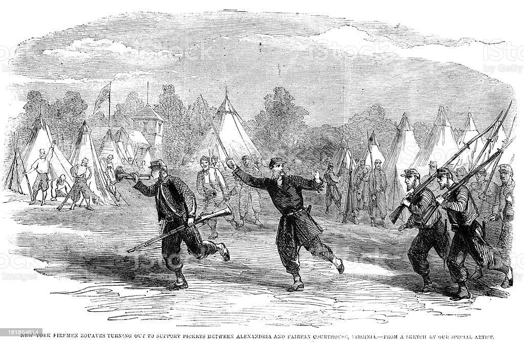 American Civil War royalty-free stock vector art