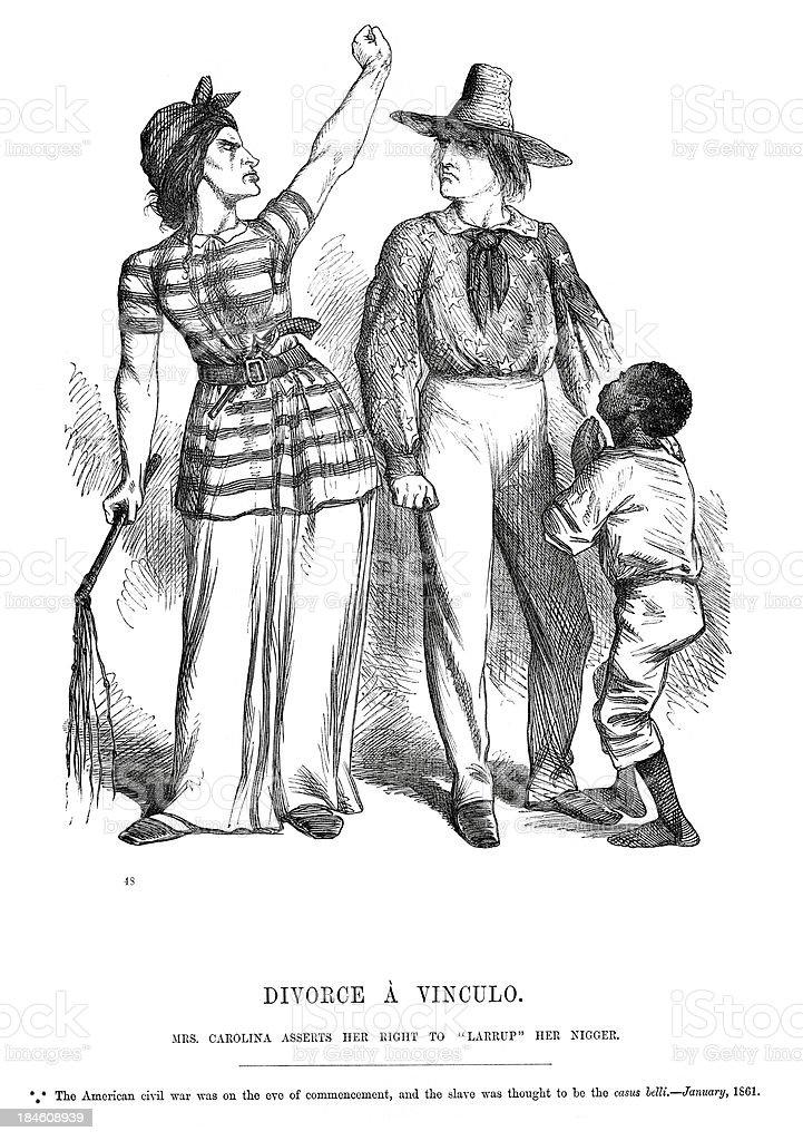 American Civil War Political Cartoon royalty-free stock vector art