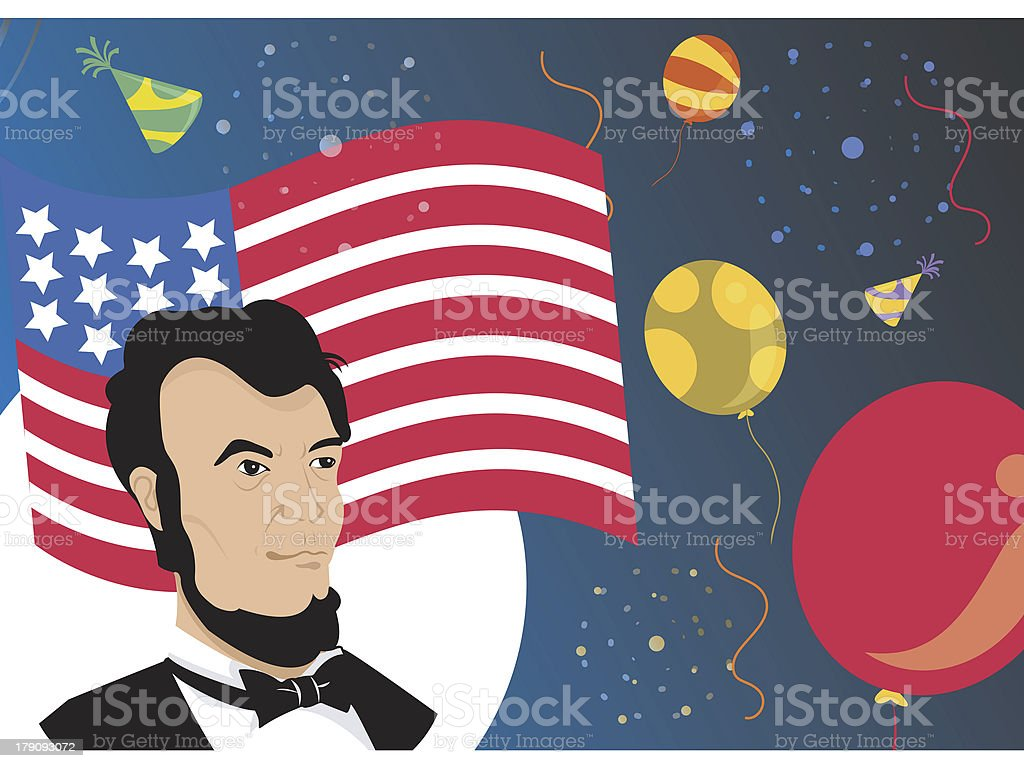 American collage royalty-free stock vector art
